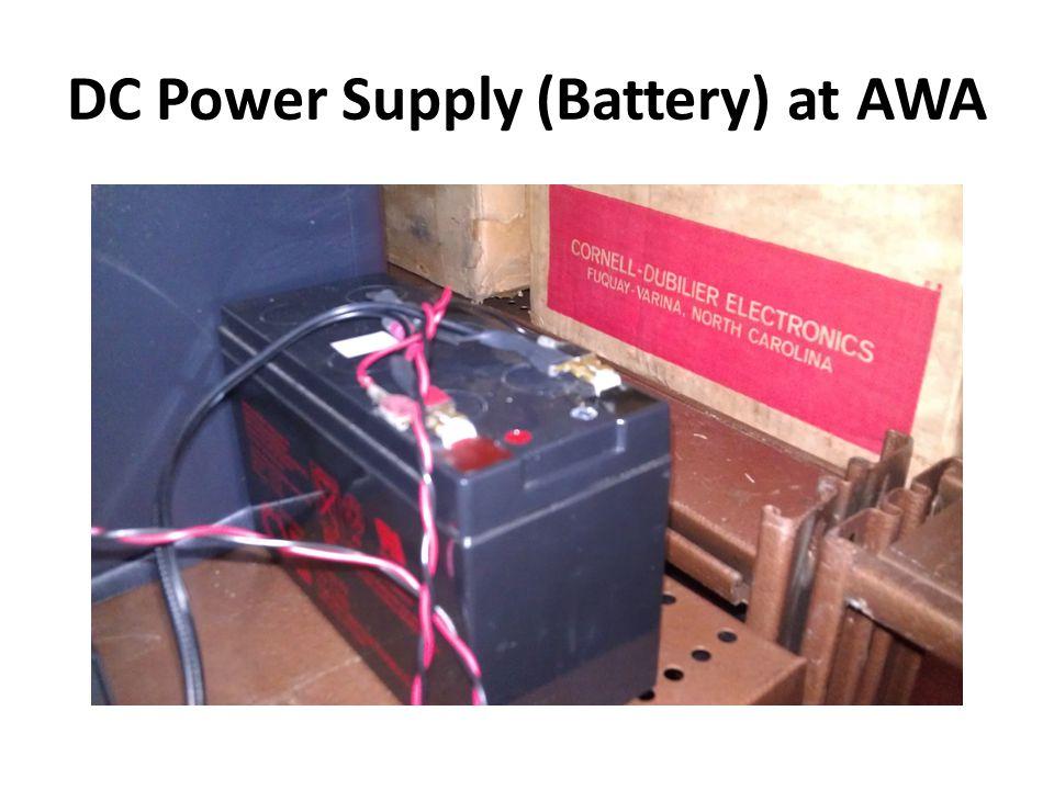 DC Power Supply (Battery) at AWA