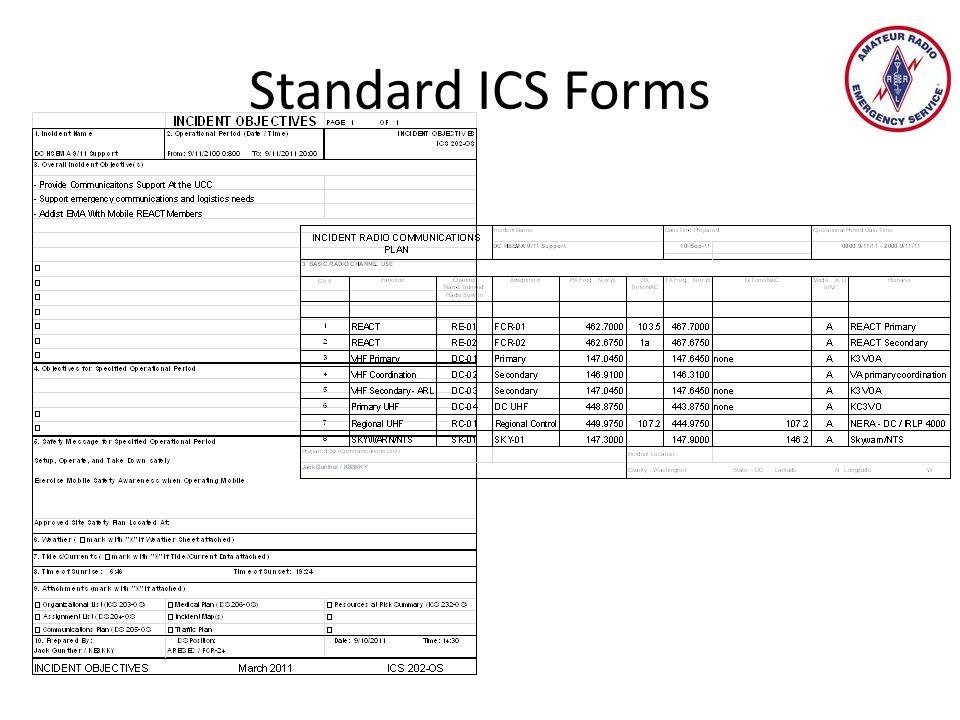 Standard ICS Forms