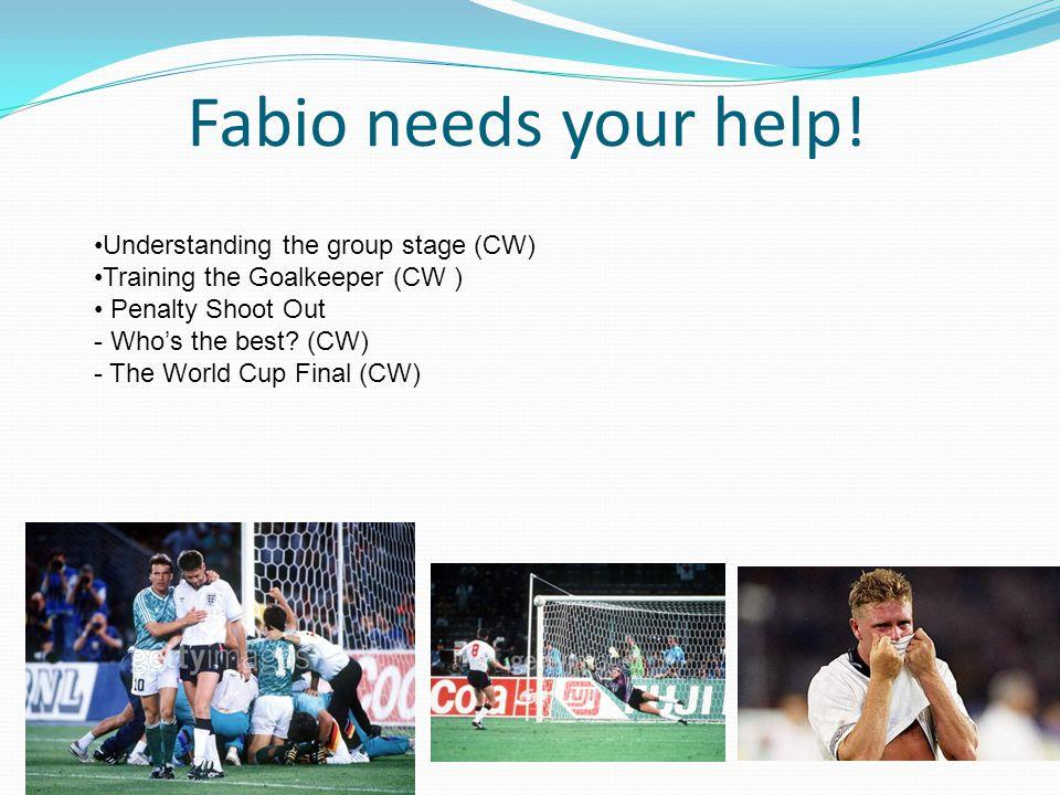 Fabio needs your help.