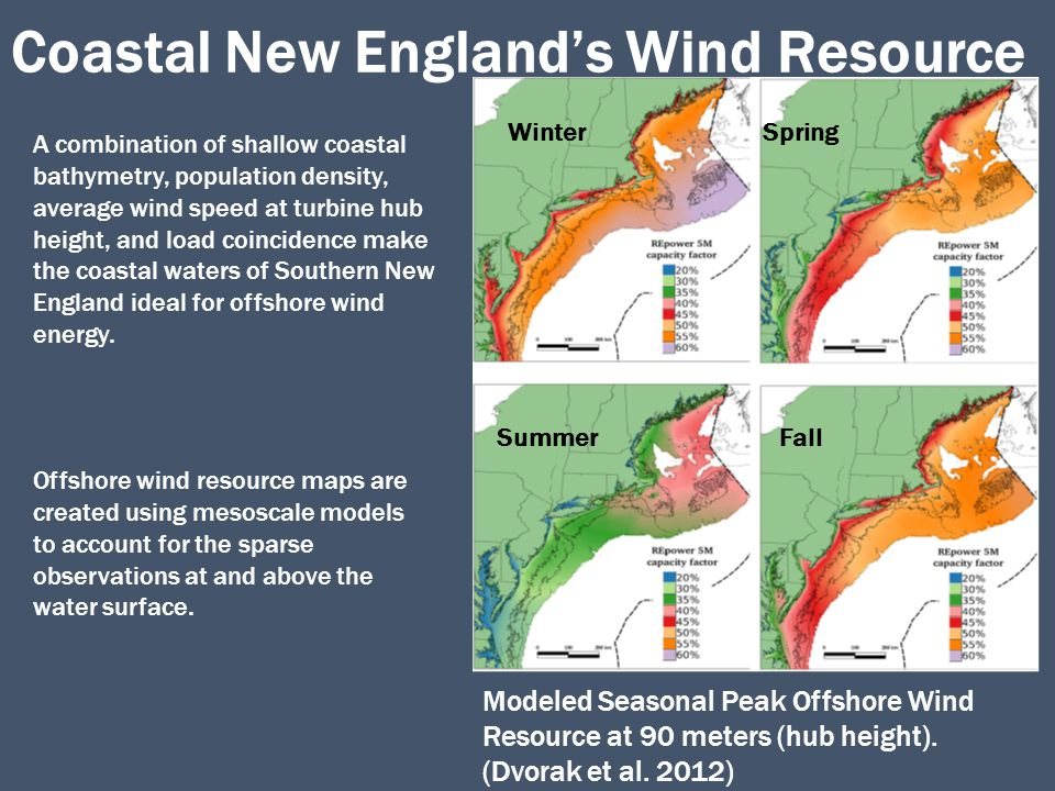 Motivation  Offshore wind resource assessment and operational forecasting are dependent on mesoscale models accurately representing coastal processes  Models are known to have wind speed biases at the surface over the water (Colle et al.