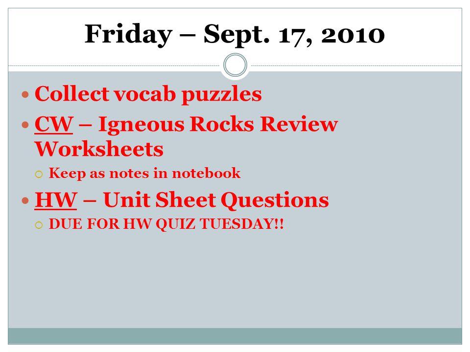 Friday – Sept.