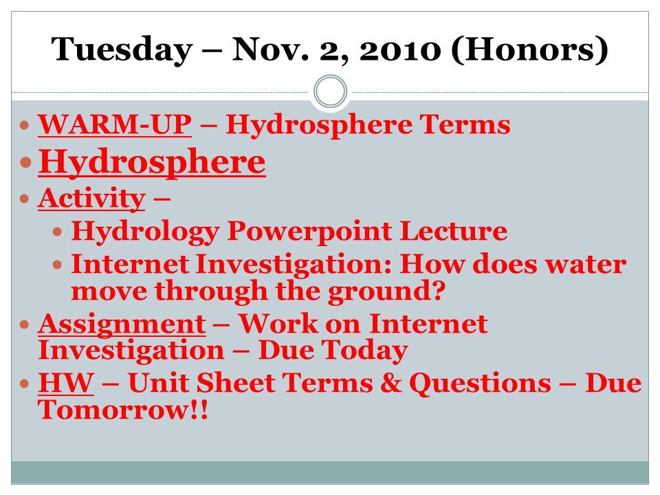 Tuesday – Nov.