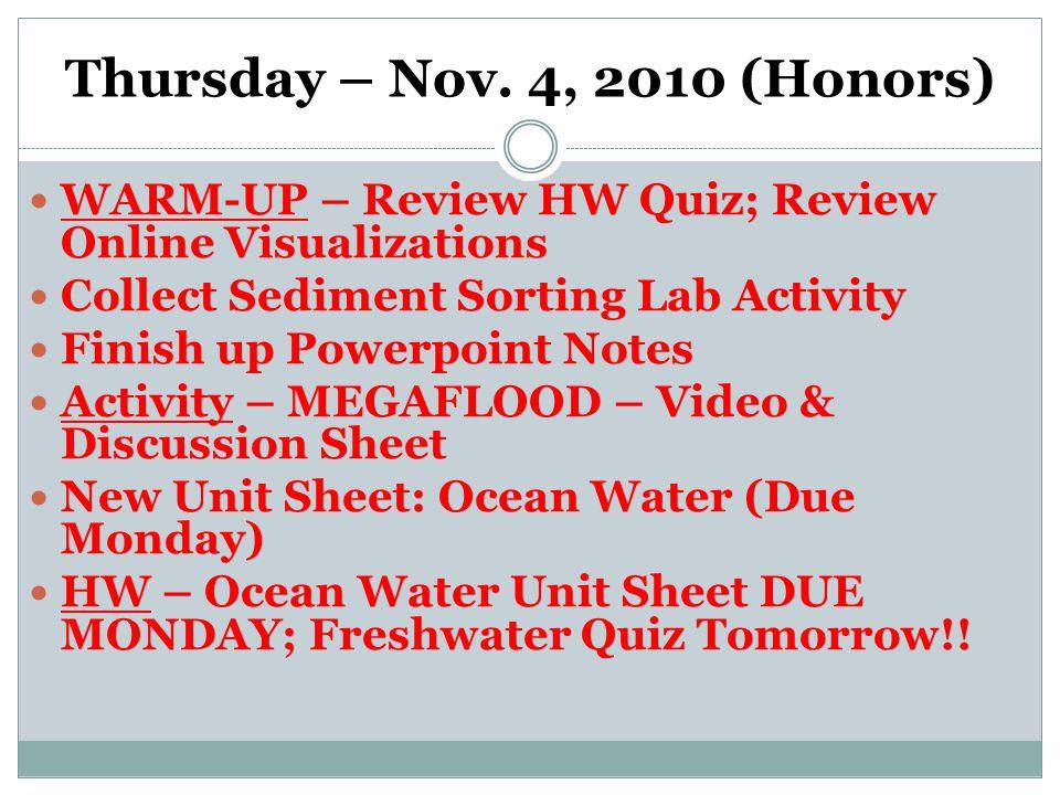 Thursday – Nov.