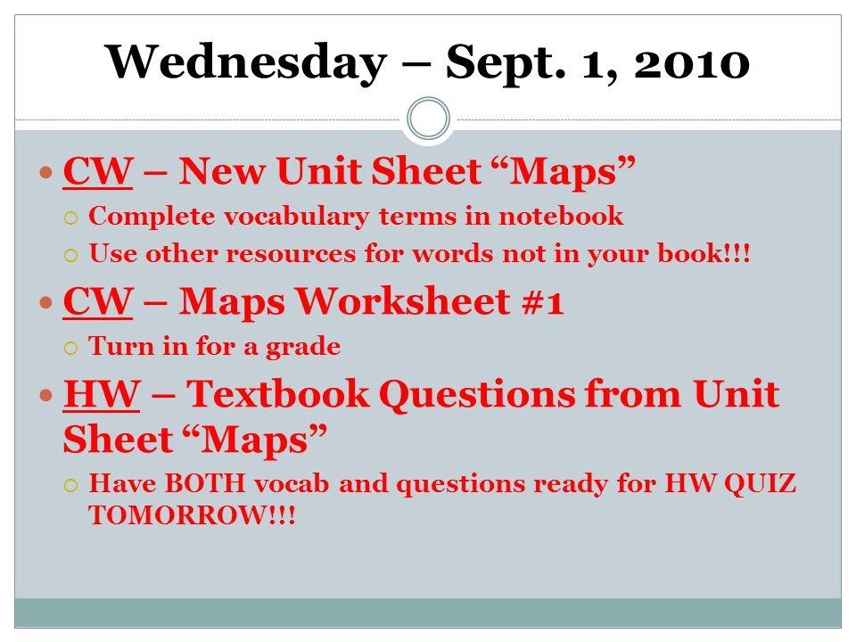 Wednesday – Sept.
