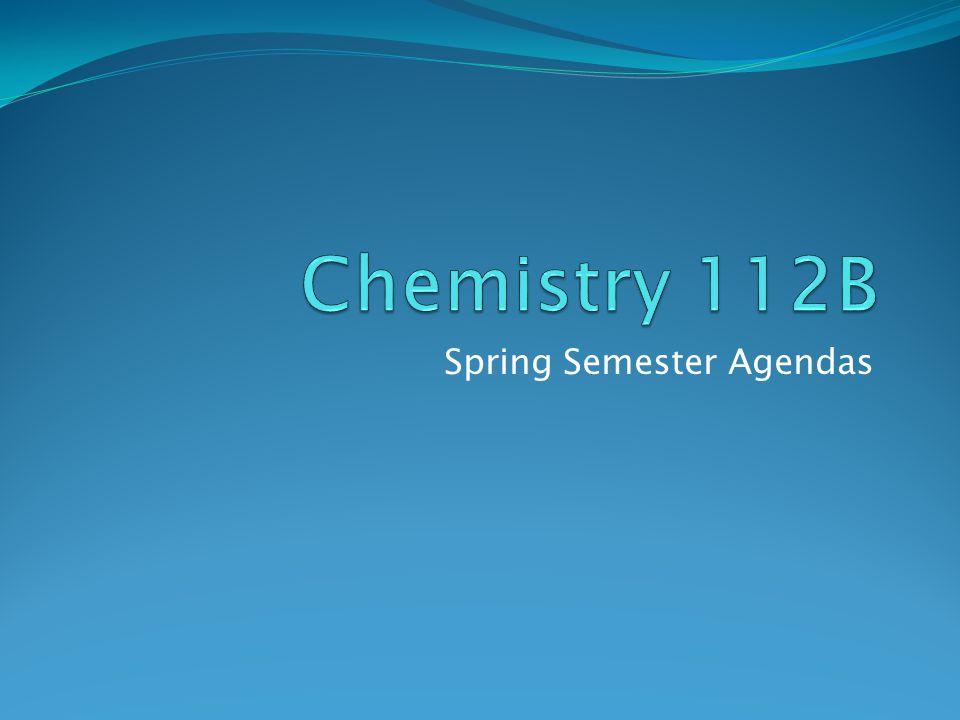 Spring Semester Agendas