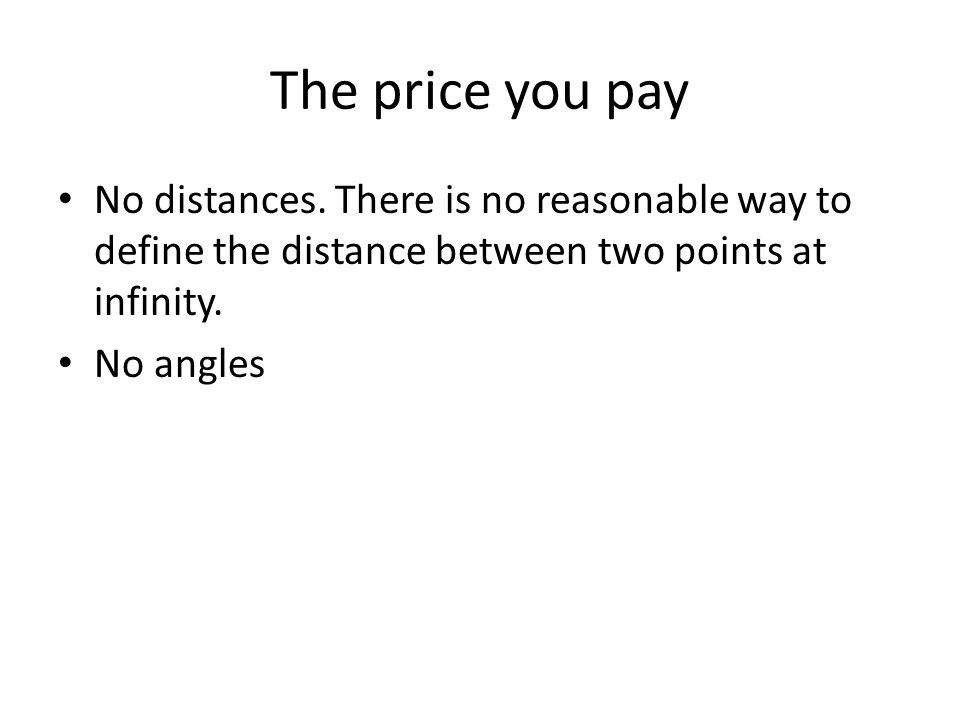 The price you pay No distances.