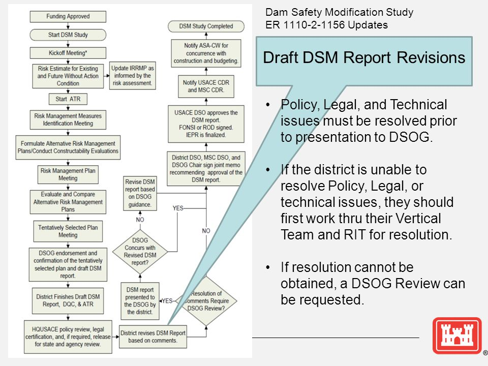 Draft DSM Report Revisions Policy, Legal, and Technical issues must be resolved prior to presentation to DSOG.
