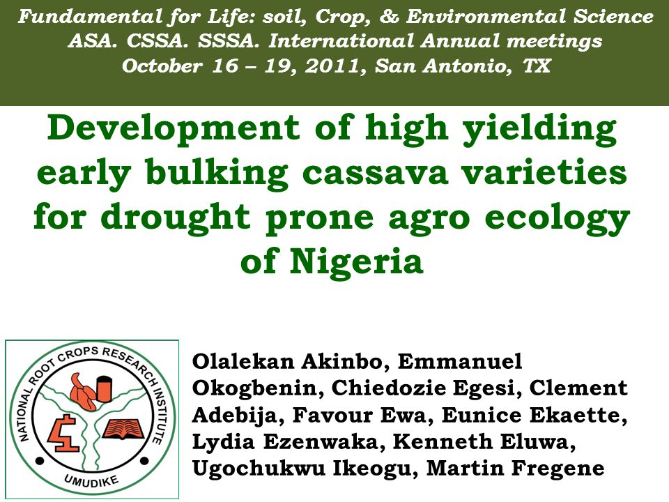 General linear model for dry root yield of cassava grown at Mirgibril over two years in Nigeria SourceDFSum of Squares Mean Square F ValuePr>F Genotype74401.655.420.890.67 Replication244.3722.183.640.03 Year15.22 0.860.35 Gen X rep81331.414.090.670.94 Yr X Rep20.220.110.020.98 Yr x Gen2575.953.030.500.96 Yr X Gen X Rep818.872.350.390.92