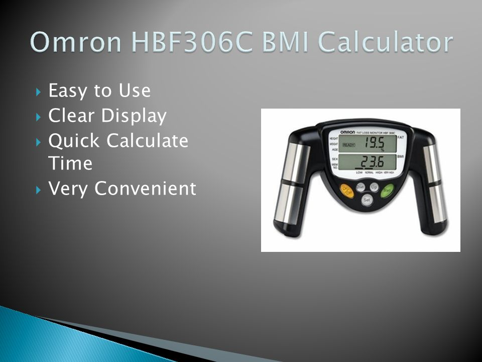  Easy to Use  Clear Display  Quick Calculate Time  Very Convenient