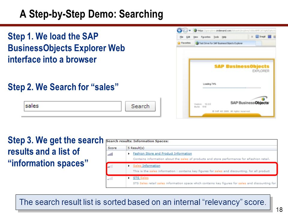 A Step-by-Step Demo: Searching Step 1.