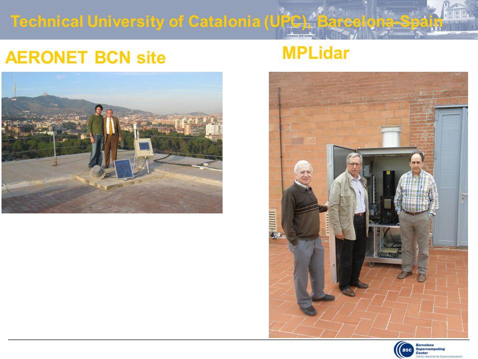 AERONET BCN site MPLidar Technical University of Catalonia (UPC), Barcelona-Spain