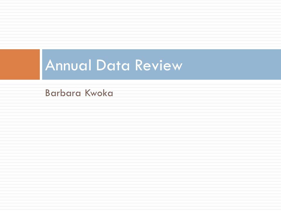 Barbara Kwoka Annual Data Review