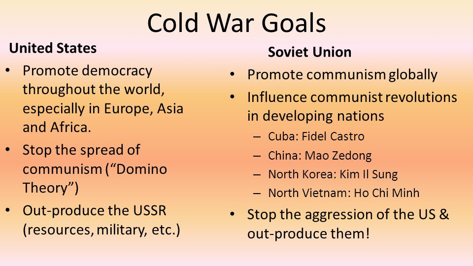 Cold War Intro Questions As we learn about the Cold War, you need to understand the background of US-Soviet tensions.