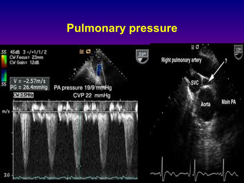 Pulmonary pressure