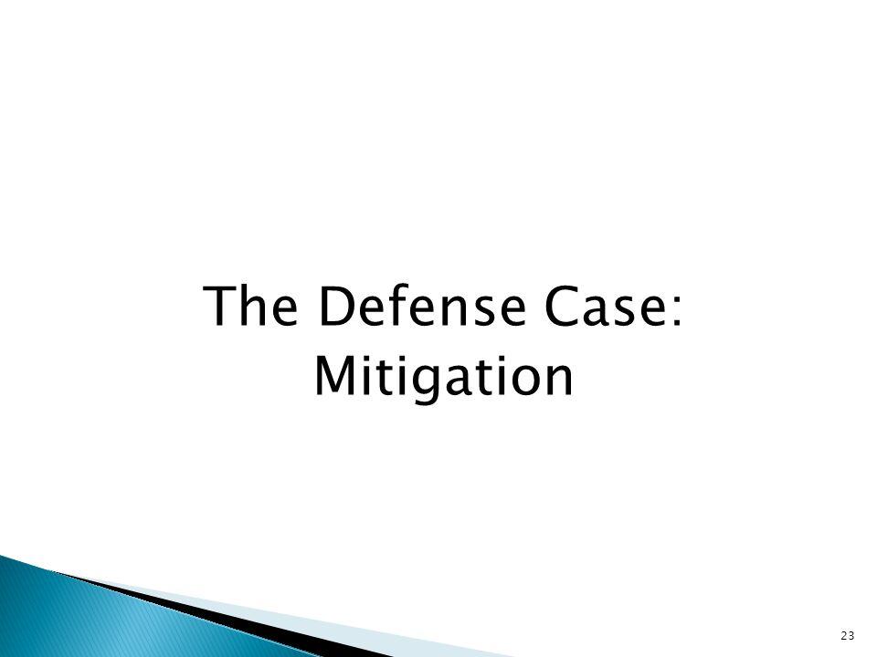 The Defense Case: Mitigation 23
