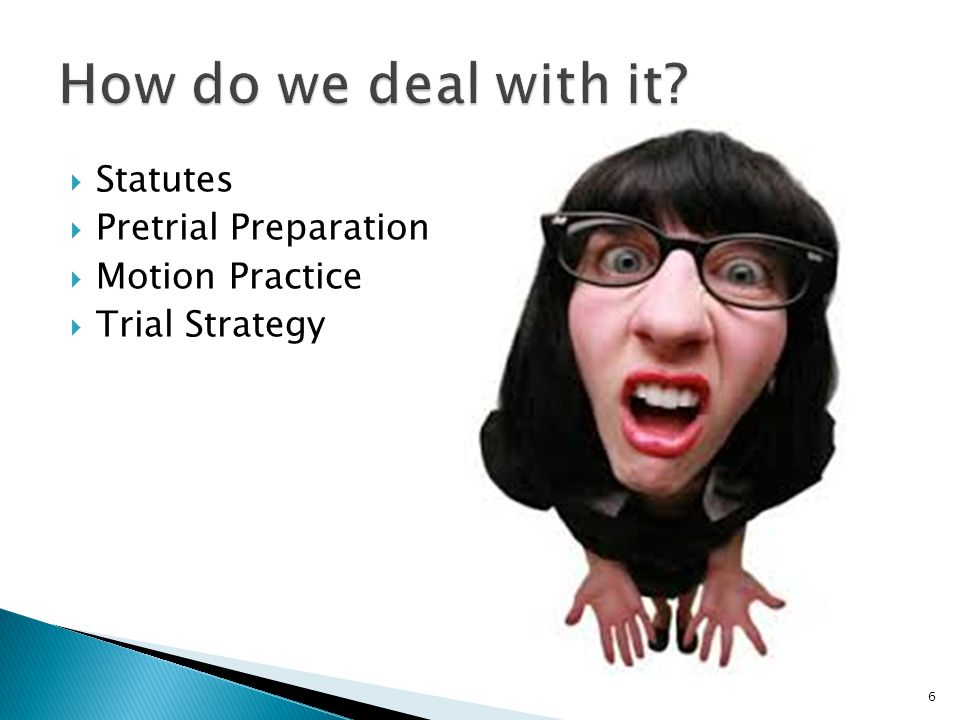  Statutes  Pretrial Preparation  Motion Practice  Trial Strategy 6