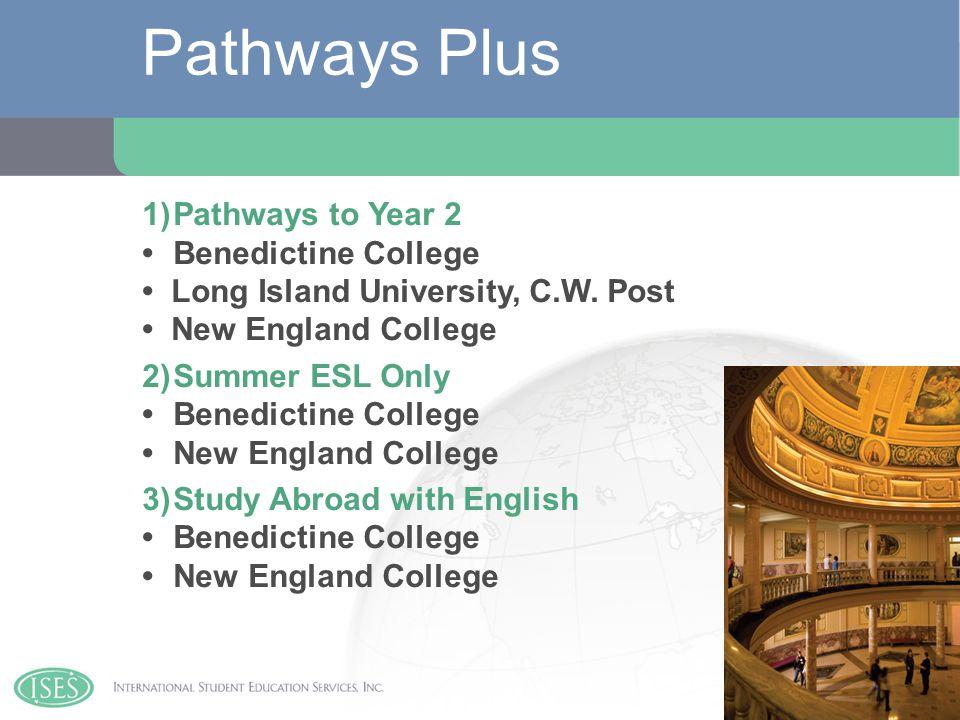 1)Pathways to Year 2Benedictine College Long Island University, C.W.