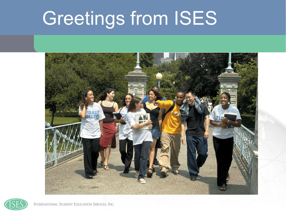 Greetings from ISES