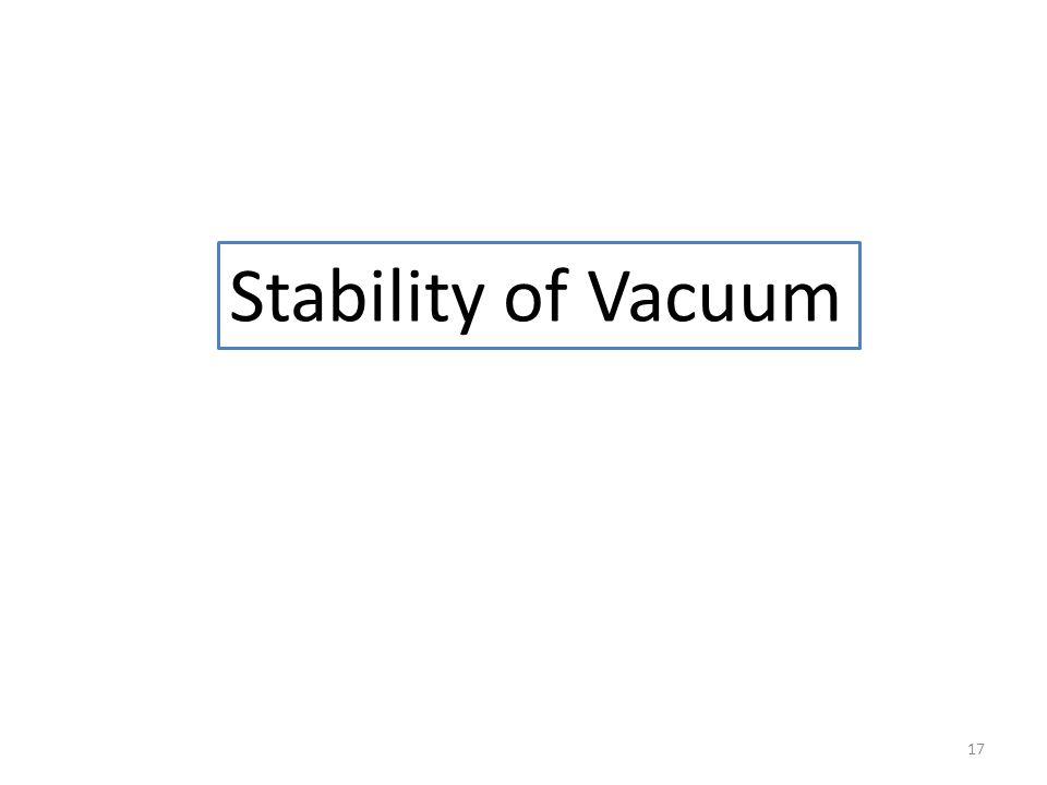 17 Stability of Vacuum