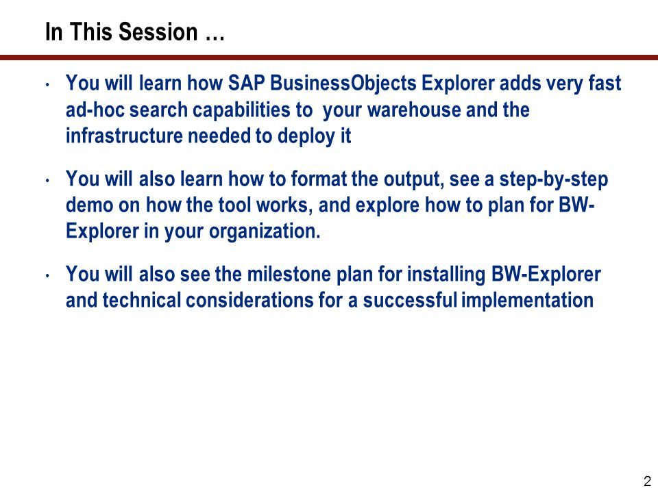 33 SAP BusinessObjects Explorer Required and Optional Components Installing SAP BusinessObjects Explorer can be confusing.