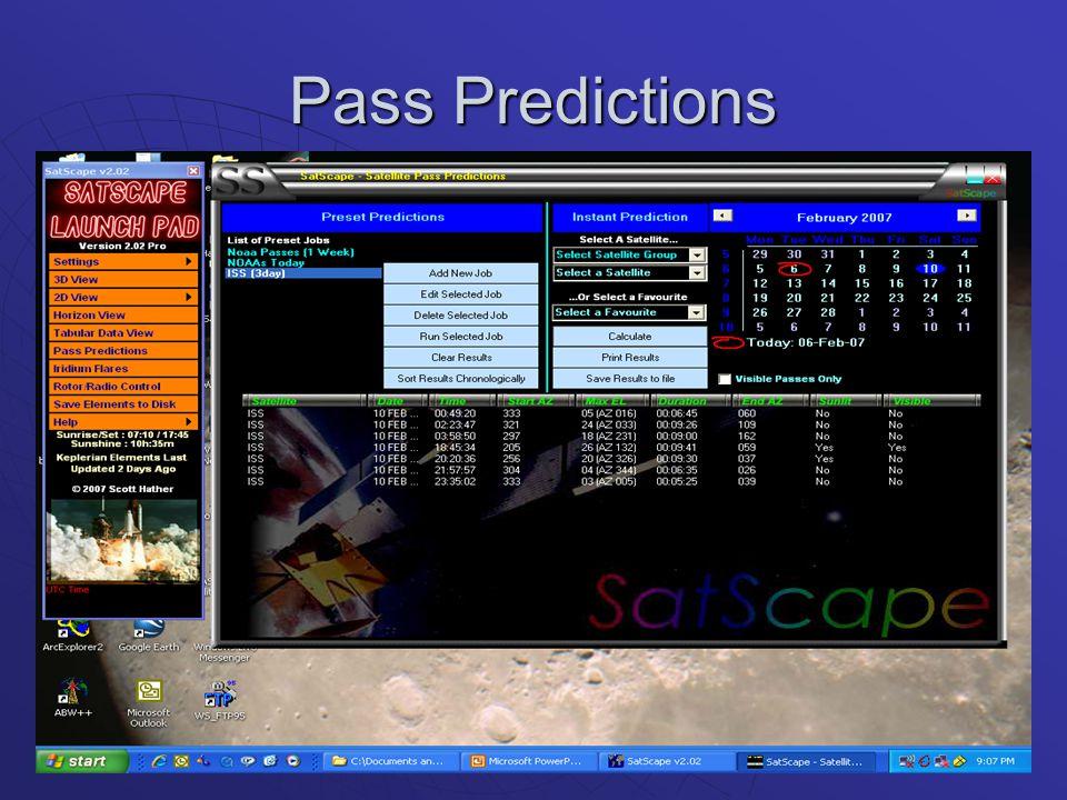 Pass Predictions