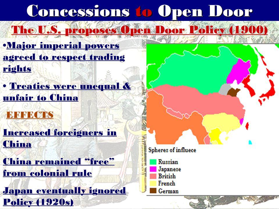 Concessions to Open Door The U.S.