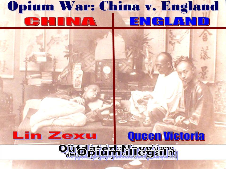 Opium War: China v. England