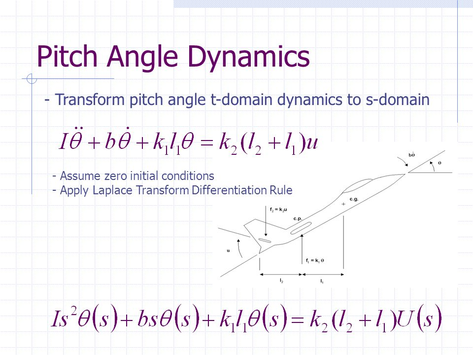 Aircraft Pitch Angle Dynamics - Rewrite 2 nd Order Ordinary Differential Equation (ODE) in standard form.