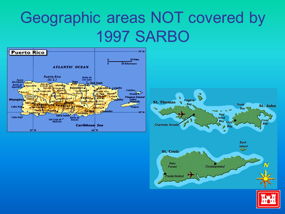 Geographic areas NOT covered by 1997 SARBO