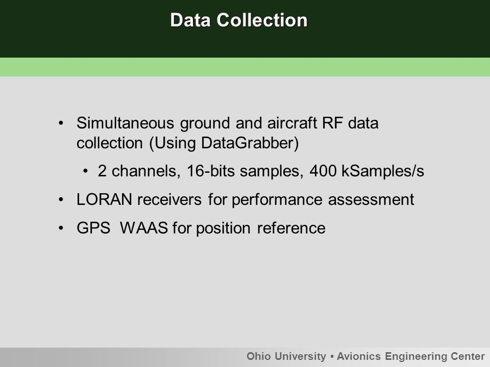 Example of collected data: Spectrum