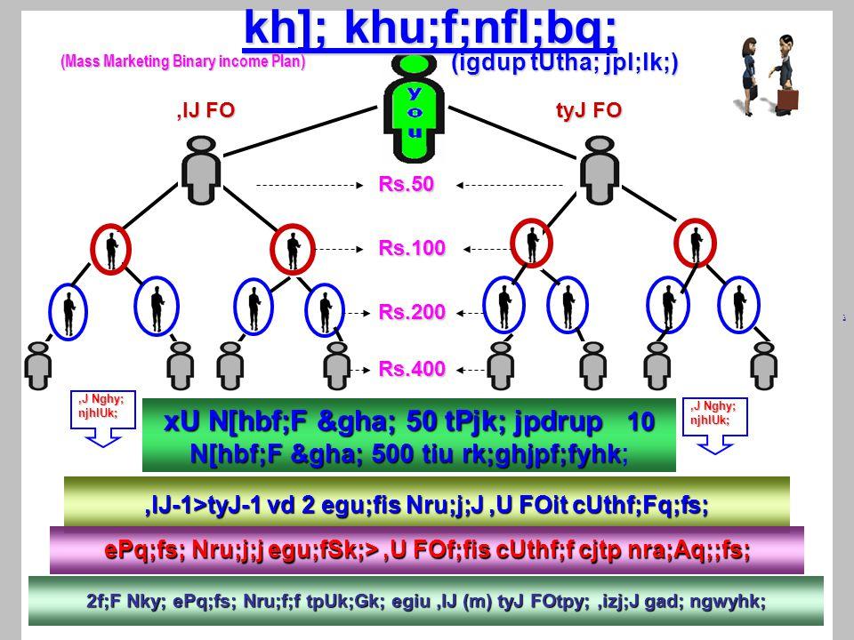 ,lJ-1>tyJ-1 vd 2 egu;fis Nru;j;J,U FOit cUthf;Fq;fs; ذ ePq;fs; Nru;j;j egu;fSk;>,U FOf;fis cUthf;f cjtp nra;Aq;;fs; 2f;F Nky; ePq;fs; Nru;f;f tpUk;Gk; egiu,lJ (m) tyJ FOtpy;,izj;J gad; ngwyhk;,lJ FO,lJ FO tyJ FO tyJ FO xU N[hbf;F &gha; 50 tPjk; jpdrup 10 N[hbf;F &gha; 500 tiu rk;ghjpf;fyhk xU N[hbf;F &gha; 50 tPjk; jpdrup 10 N[hbf;F &gha; 500 tiu rk;ghjpf;fyhk;,J Nghy; njhlUk; kh]; khu;f;nfl;bq; (igdup tUtha; jpl;lk;),J Nghy; njhlUk; (Mass Marketing Binary income Plan) Rs.50 Rs.100 Rs.400 Rs.200