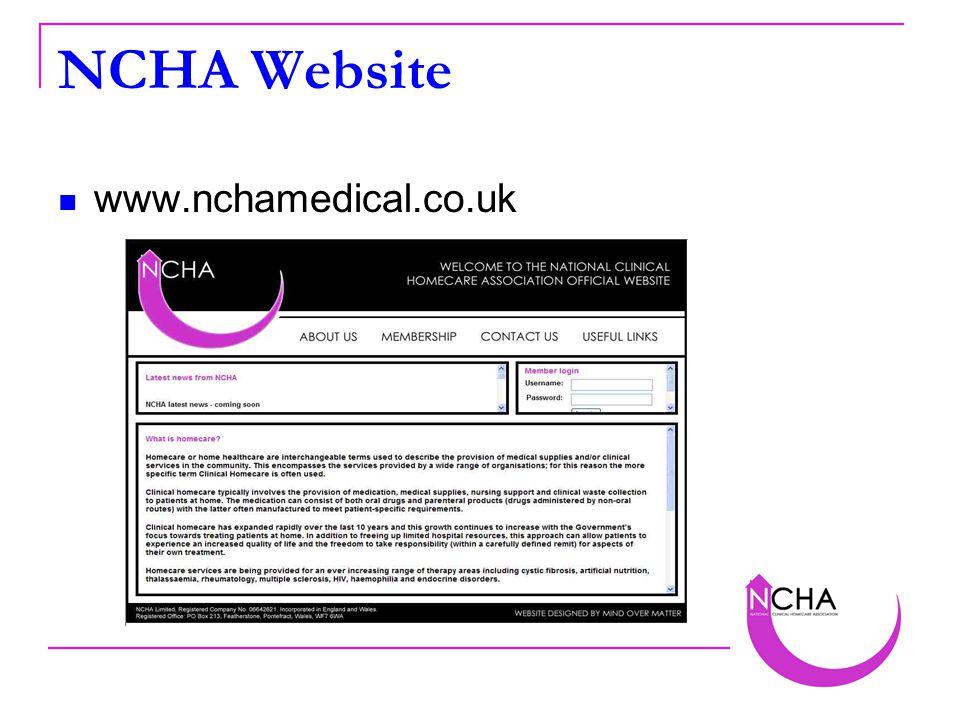 NCHA Website www.nchamedical.co.uk