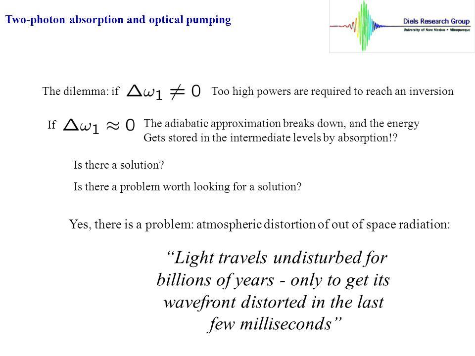 Doppler Free two-photon spectroscopy PMT Tunable short pulse laser Transit time broadening Shorter pulses  stronger signal.
