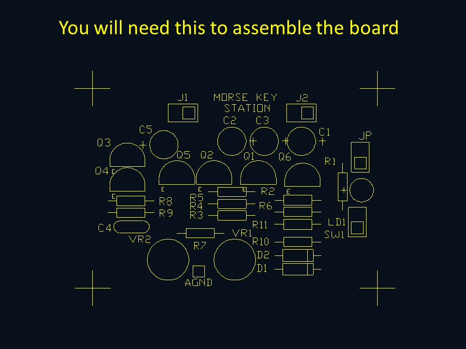 You will need this to assemble the board