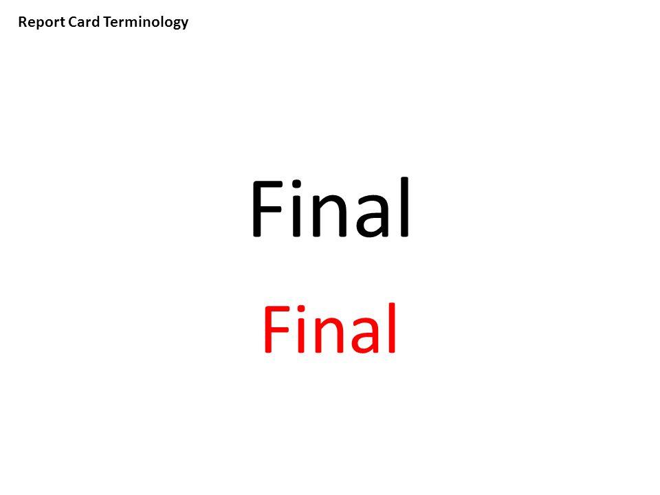 Report Card Terminology Final