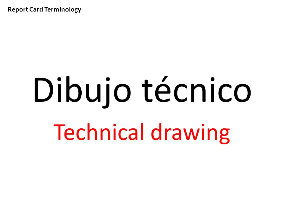 Report Card Terminology Dibujo técnico Technical drawing