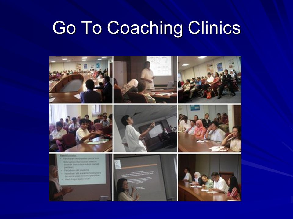 Go To Coaching Clinics