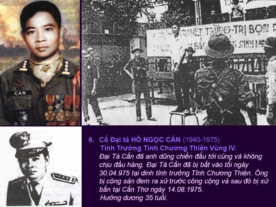 5.Cố Thiếu tướng PHẠM VĂN PHÚ (1928-1975) Tư Lệnh Quân Đòan II & Quân Khu II.