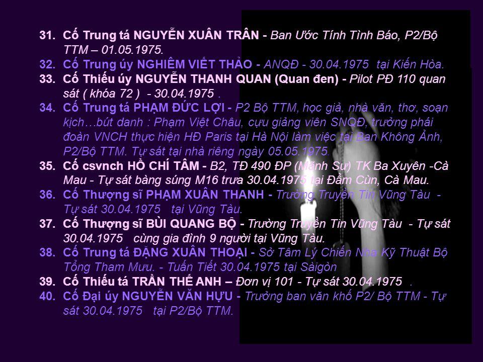20.Cố Thiếu tá ĐỖ VĂN PHÁT - Quận trưởng Thạnh Trị Ba Xuyên – 01.05.1975.