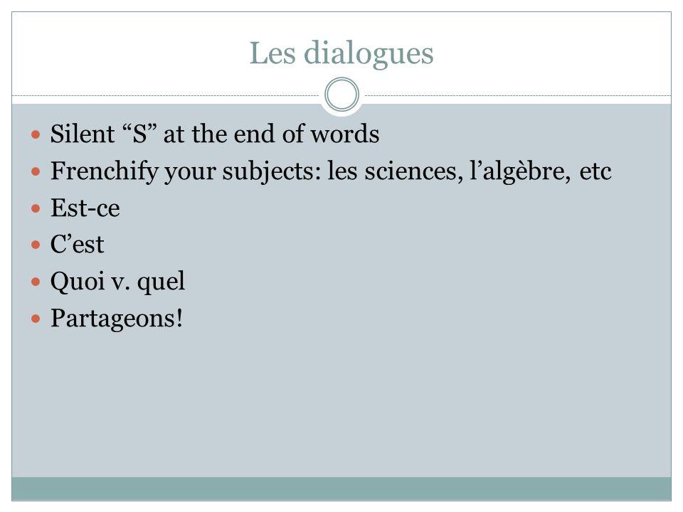 Les cours Maintenant… put your word on the desk that matches its article Le, la, les, l'