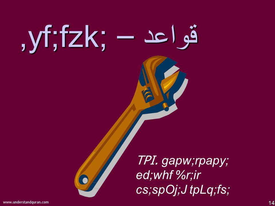 14 www.understandquran.com قواعد –,yf;fzk; TPI. gapw;rpapy; ed;whf %r;ir cs;spOj;J tpLq;fs;