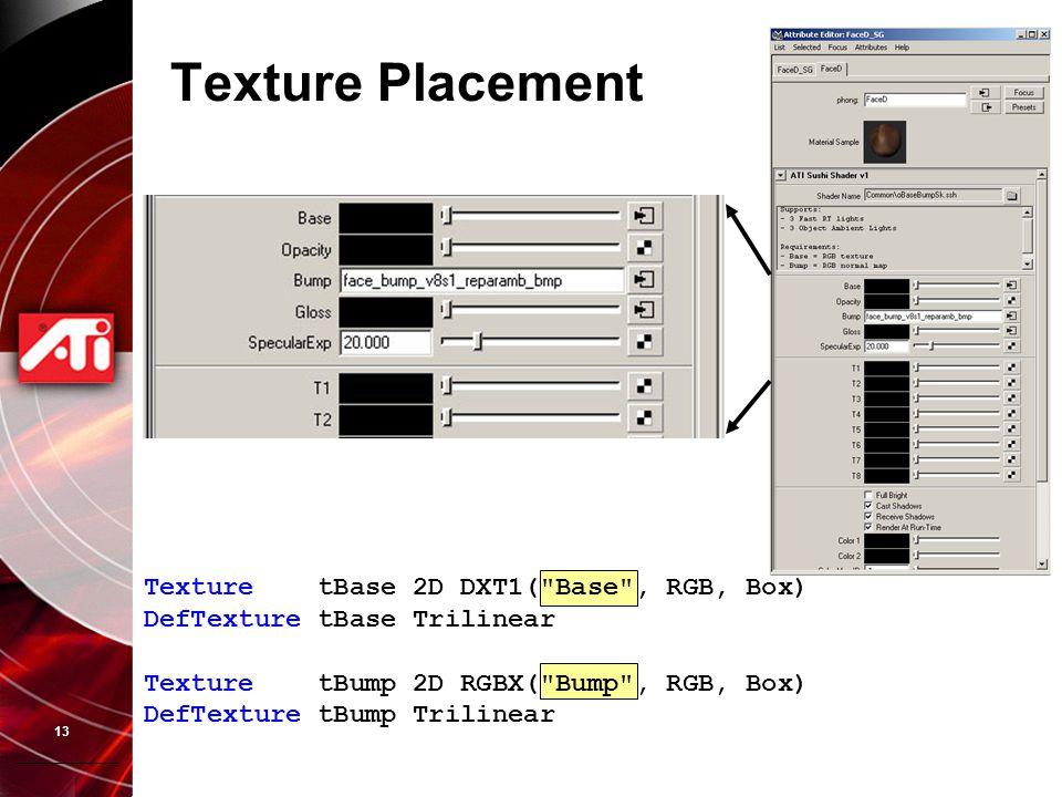 13 Texture Placement Texture tBase 2D DXT1(