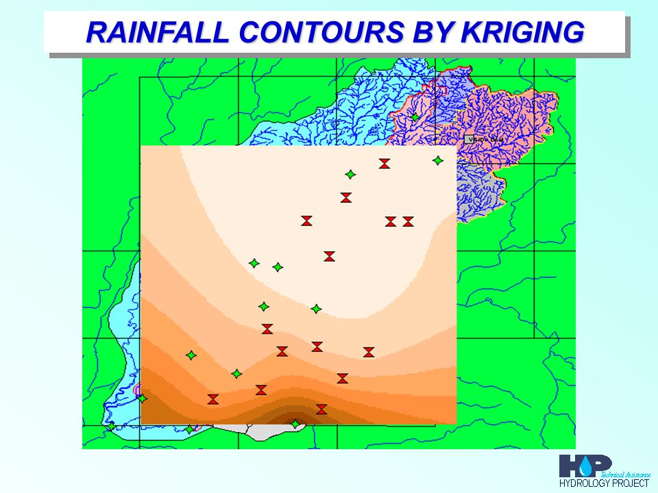 RAINFALL CONTOURS BY KRIGING