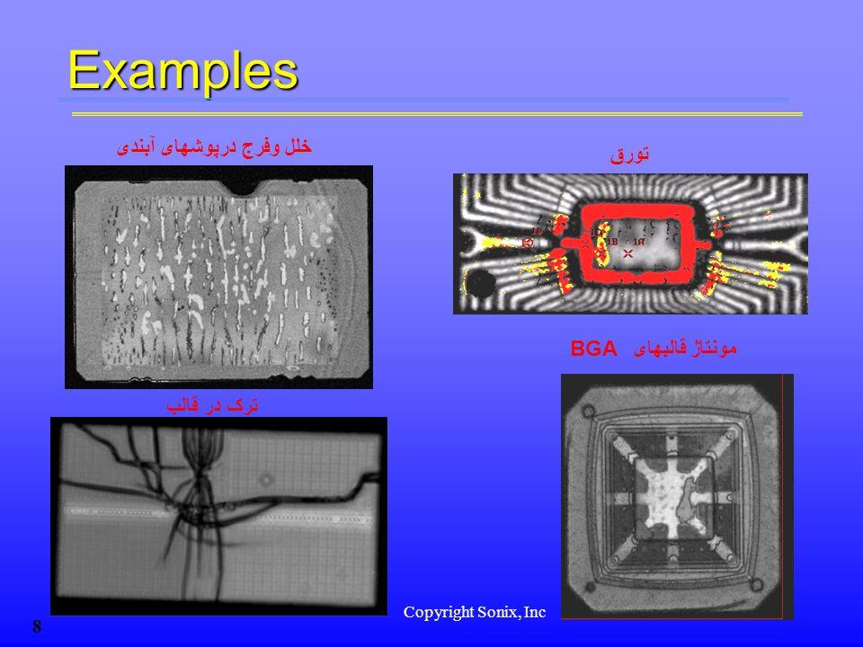 Copyright Sonix, Inc 8 ترک در قالب تورق BGA مونتاژ قالبهای خلل وفرج درپوشهای آبندیExamples