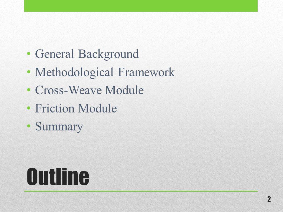 Outline General Background Methodological Framework Cross-Weave Module Friction Module Summary 2