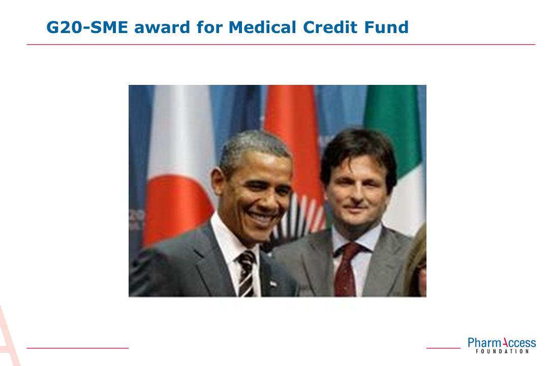 13 G20-SME award for Medical Credit Fund