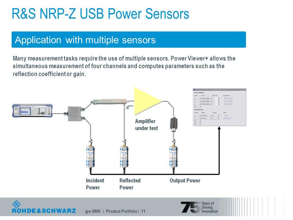 jps 0806   Product Portfolio   11 R&S NRP-Z USB Power Sensors Application with multiple sensors Many measurement tasks require the use of multiple sensors.