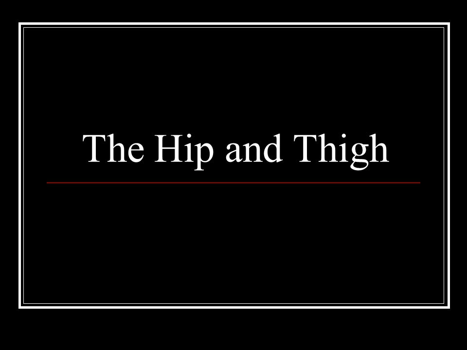 The Hip and Thigh