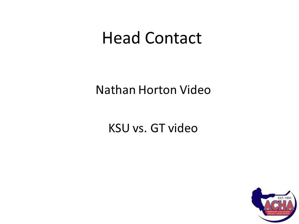 Head Contact Nathan Horton Video KSU vs. GT video