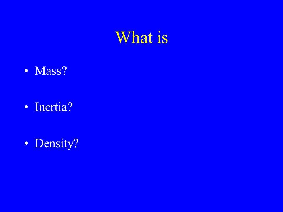 What is Mass Inertia Density